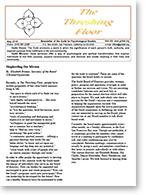 Threshing Floor newsletter